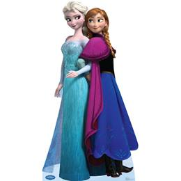 Elsa and Anna Life Size Stand Up - Disney's Frozen