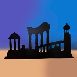 Lost City of Atlantis Left-facing Silhouette Kit
