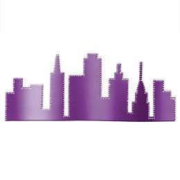 Purple City Skyline Silhouette Kit