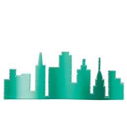 Teal City Skyline Silhouette Kit