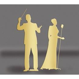 Gold Maestro & Singer Silhouettes Kit