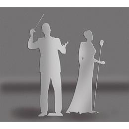 Silver Maestro & Singer Silhouettes Kit