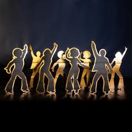 Disco Dancers Silhouette Kit (set of 8)