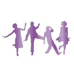 Purple Dressed to the Nines Dancers Silhouette Kit