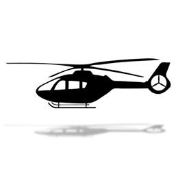Helicopter Cut Out Silhouette