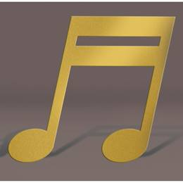 Gold Double Musical Note Silhouette Kit
