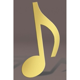 Gold Eighth Note Silhouette Kit