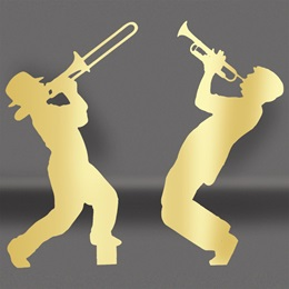 Gold Brass Players Silhouette Kit