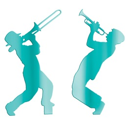 Teal Brass Players Silhouettes Kit