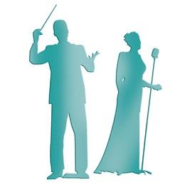 Teal Maestro & Singer Silhouettes Kit