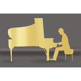 Gold Piano Man Silhouette Kit