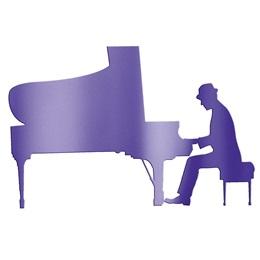 Purple Piano Man Silhouette Kit