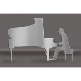 Silver Piano Man Silhouette Kit