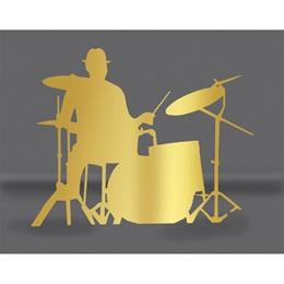 Gold Drummer Silhouette Kit