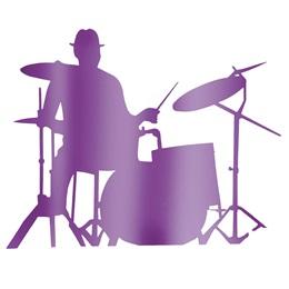 Purple Drummer Silhouette Kit