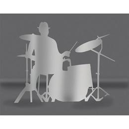 Silver Drummer Silhouette Kit