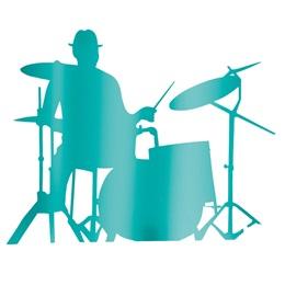 Teal Drummer Silhouette Kit