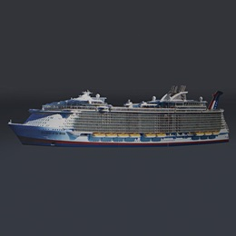 Cruise Ship Full-color Life Size Cut Out