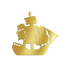 Gold Large Ship Silhouette Kit