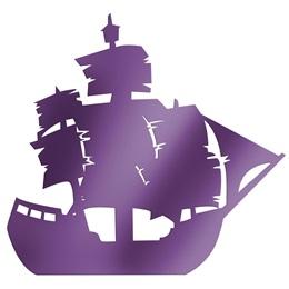 Purple Large Ship Silhouette Kit