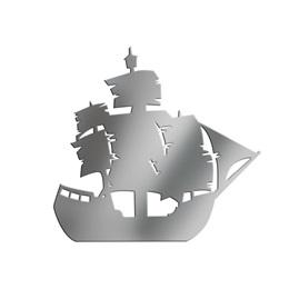 Silver Large Ship Silhouette Kit