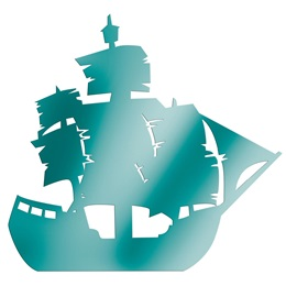 Teal Large Ship Silhouette Kit