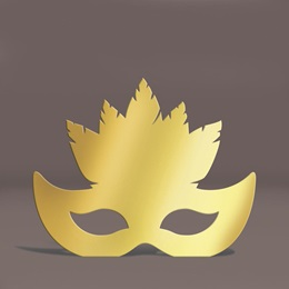 Gold Feather Mask Silhouette Kit