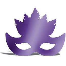 Purple Feather Mask Silhouette