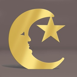 Gold Moon and Star Silhouette Kit