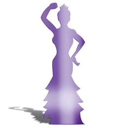 Purple Brazilian Dancer Silhouette