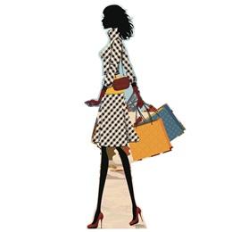 Paris Shopper Life Size Stand Up
