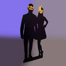 Masked 'Til Midnight Couple Silhouette Kit