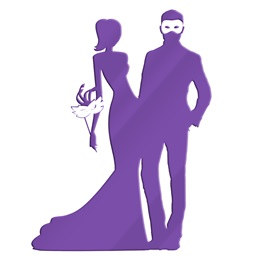 Purple Masquerade Couple Silhouette Kit