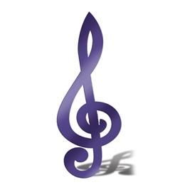 Purple Treble Clef Silhouette