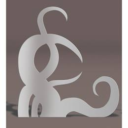 Silver Left Curlicues Silhouette Kit
