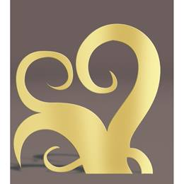Gold Right Curlicues Silhouette Kit