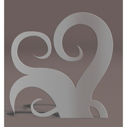 Silver Right Curlicues Silhouette Kit