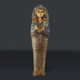 King Tut Egyptian Mummy Full-color Life Size Cut Out