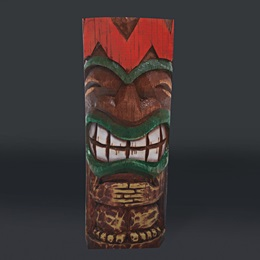 Tiki Totem Pole Full-color Life Size Cut Out