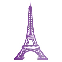 Purple Eiffel Tower Silhouette Kit