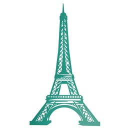 Teal Eiffel Tower Silhouette Kit