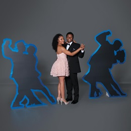 Dancing A Blue Streak Couples Silhouettes Kit
