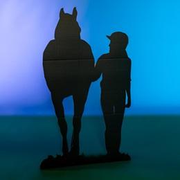 Walking Jockey and Horse Silhouette Kit