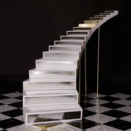 Silver Steps Ballroom Staircase Kit