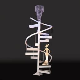 Ebony and Ivory Staircase With Hat Lady Kit