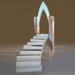 Stately Silver Left Staircase Kit