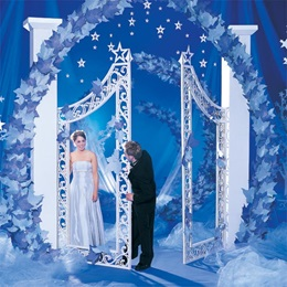 12 ft. Wishful Stars Column Gate and Arch Kit