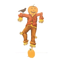 Friendly Face of Fall Pumpkin Scarecrow Kit