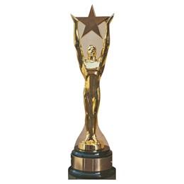 Gold Statue Award Cardboard Stand Up