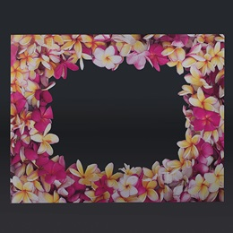 Flower Frame Full-color Life Size Cut Out